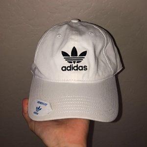 White Adidas Hat